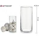 mayorista Casa y decoración: jarron cristal cilindrico alto