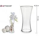 mayorista Decoración: florero cristal relieve base estrecha