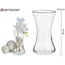 vase glass embossed wide base