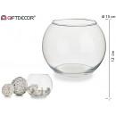 aquarium rond en verre diamètre 15x12cm