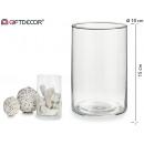 vaso di vetro cilindrico