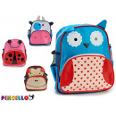 children's backpack, 4 times assorted animals