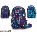 backpack with abstract case, 3 times assorted