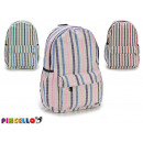 vertical striped backpack, 3 times assorted