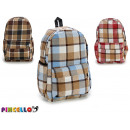 plaid backpack, colors 3 times assorted dark