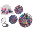 wholesale Mirrors: round folding magnifying mirror, 3 times assorted