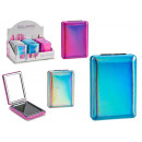 square folding magnifying mirror, 3 times assorted