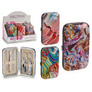 manicure set case, 3 times assorted abst