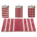 wholesale Bath & Towelling: fuchsia rug 40x60cm, 4 times assorted Models