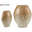 mother of pearl silver vase 38cm