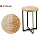 round nacar silver side table 45cm