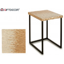 square nacar silver side table 47cm