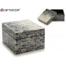 wholesale Decoration: 25cm gradient nacar square gray box