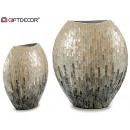 vase large nacre gris degradé 32cm