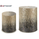 wholesale Small Furniture: gradient gray pearl round stool