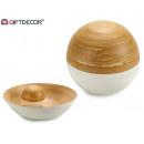 dekoracja bambusowej kulki biała 10 cm