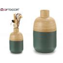 szary bambusowy wazon wąskie usta
