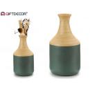 Usta wazon bambusowy o szarym kształcie
