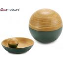 Décoration boule de bambou gris 10 cm