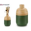 wazon bambusowy zielone usta wąskie