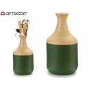 wazon bambusowy w kształcie ust zielony