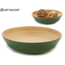 round table center bamboo green 30 cm