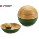 Décoration boule de bambou vert 10 cm