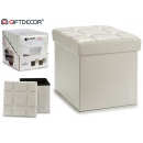 laundry basket white 31 x 31 x 31 cm