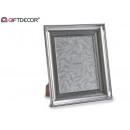 Großhandel Bilder & Rahmen: 20 x 25 cm gebogener silberner Fotorahmen