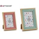 Großhandel Bilder & Rahmen: gestufter Fotorahmen 2 Farbmix 10x15cm