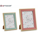 wholesale Pictures & Frames: stepped photo frame 2 col.mix 15x20cm