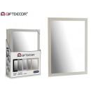 weißer Spiegel 50 x 70 cm