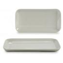 weißes Porzellan Rechteck Tablett 23x11 cm