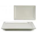 rectangular white porcelain tray 31x20 cm