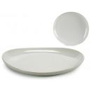 Teller ovales weißes Porzellan