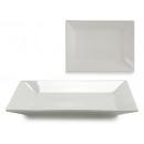 plateau rectangulaire en porcelaine blanche 35x26