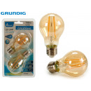 GRUNDIG - 2 led bulbs a67 8w e27 700lmn 2300k