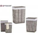 set of 2 gray square laundry basket