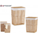 set of 2 natural square laundry basket