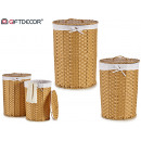 set of 2 natural round laundry basket, 2
