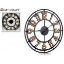 wholesale Clocks & Alarm Clocks: metal clock 60x60 cm wood color