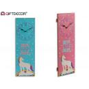 rectangular wood clock unicorn 2 times assorted 2