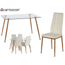 davi table set 4 white chairs
