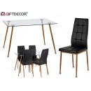 davi table set 4 black chairs