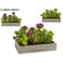 wholesale Artificial Flowers: gray rectangular planter, models 3 times assorted