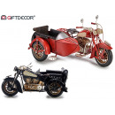 wholesale Decoration: motorcycle with tin sidecar, colors 2 times ...