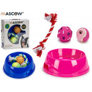 set of feeder and 3 teethers assorted