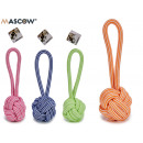 Großhandel Beads & Charms: Ball Seil Beißring, Farben 4 fach sortiert
