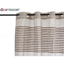 wholesale Curtains & Drapery: brown striped striped curtain