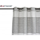 wholesale Curtains & Drapery: light gray folded striped curtain